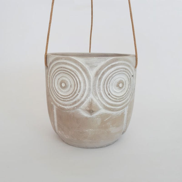 owl hanging pot