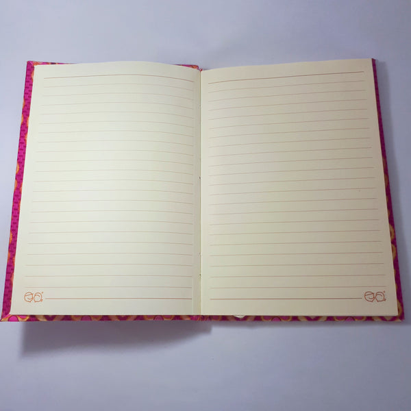 pink and gold journal