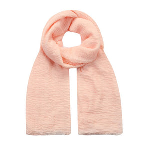 pastel pink crushed viscose scarf