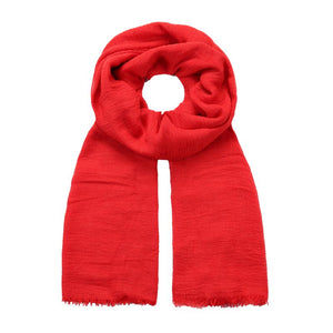 red crushed viscose scarf