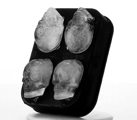 black skull ice tray steampunk