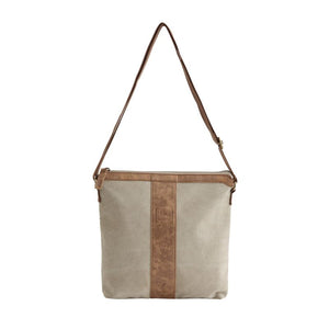 small taupe sling bag