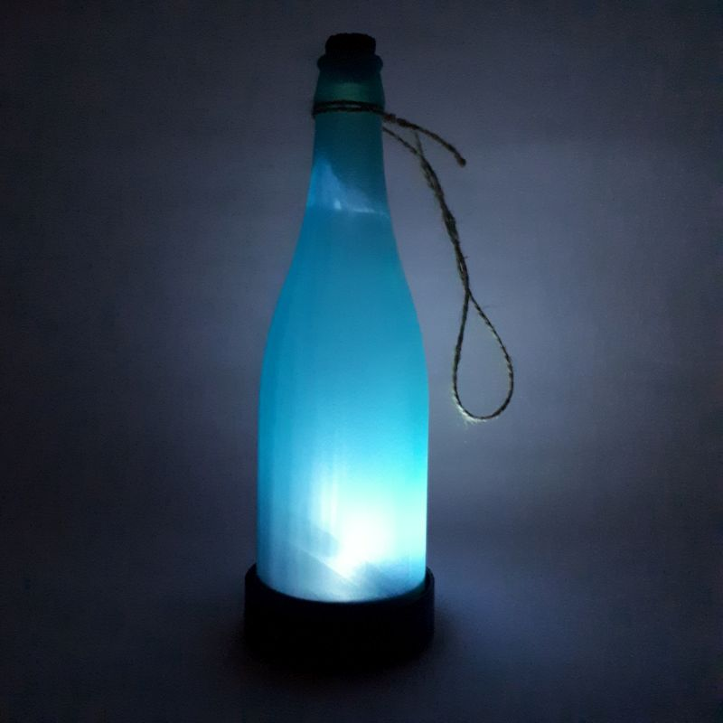 blue solar bottle