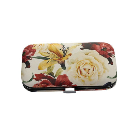 white floral manicure set