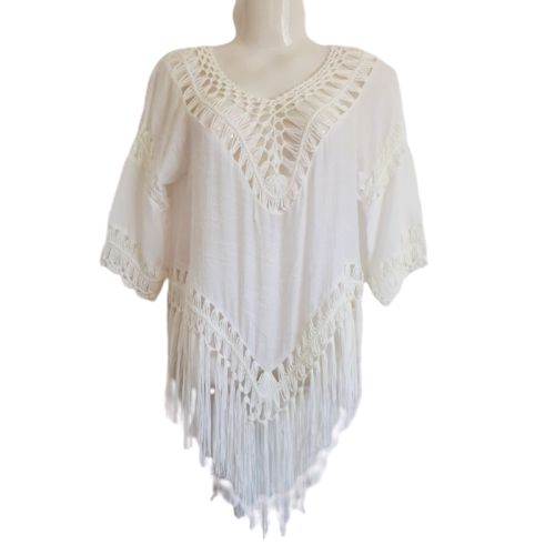 white island tassel cover up