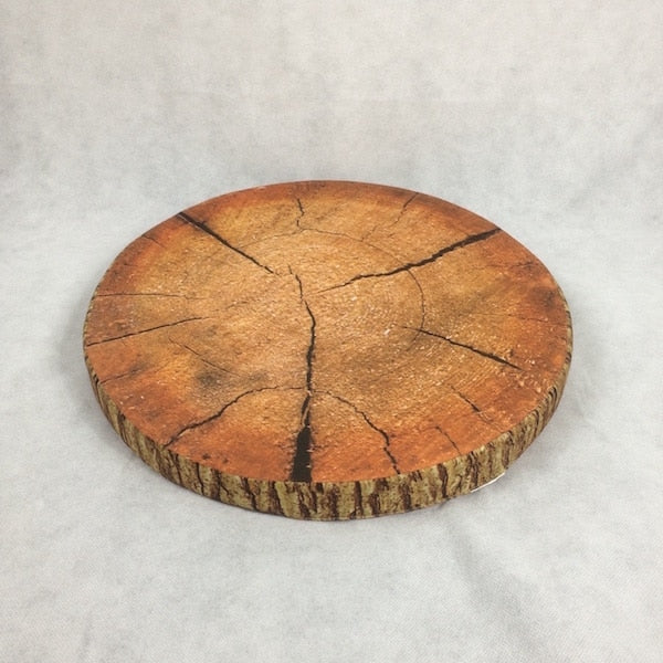 wood slice cork cushion