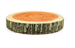 wood slice thick pine cushion