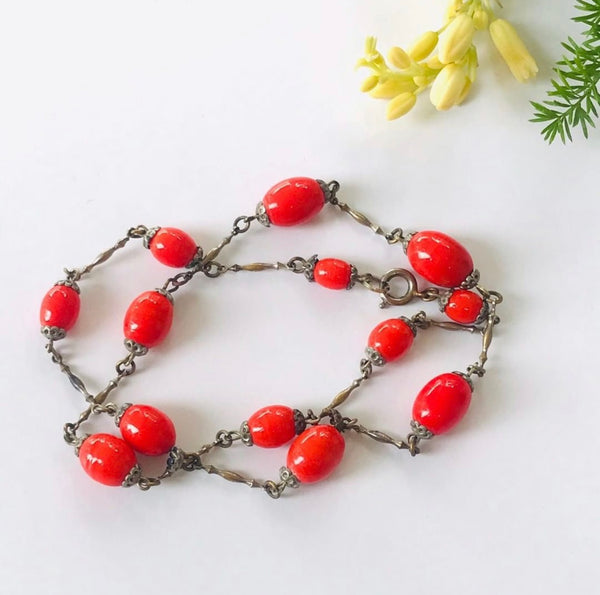 1930s Czech Glass Vintage Necklace