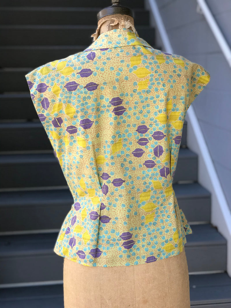 1950s Lemon Quinoa Walnut Salad Blouse