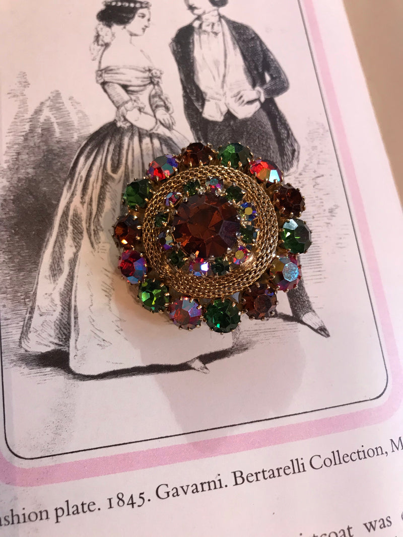Vintage Winter Fruits RS Brooch