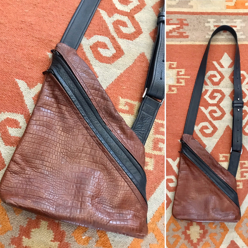 *RESERVED* 1990s Asymmetrical Leather Crossbody