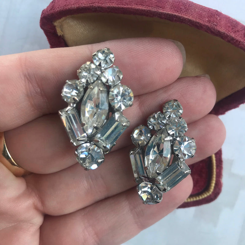 Reserved for Allison: Rhinestone Earrings