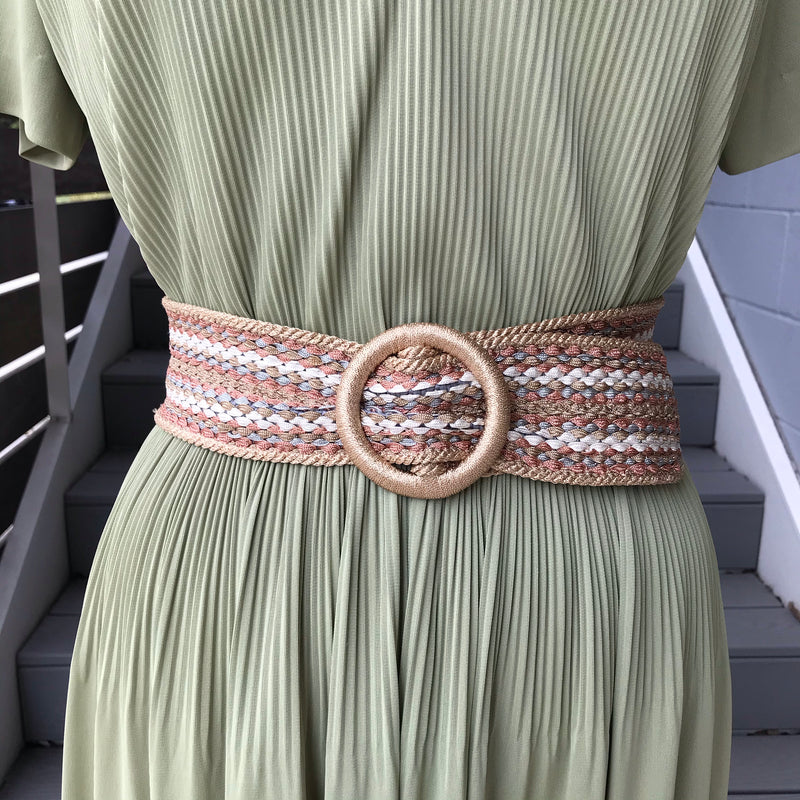 Woven Belt: Gold, Silver, and Rose Gold