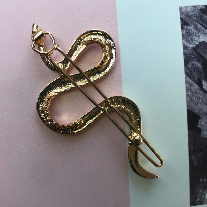 Gold Snake Barrette