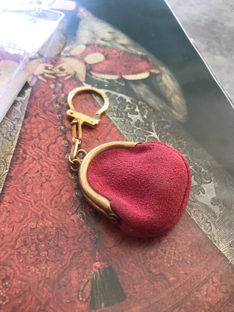 *Deadstock* Poppy Suede Mini Coin Purse
