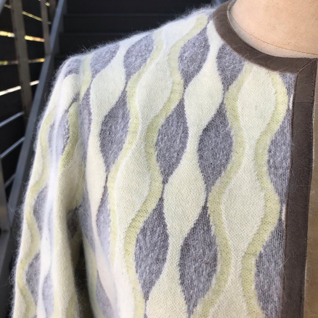 1960s Mod Yellow and Gray Cashmere Jacket