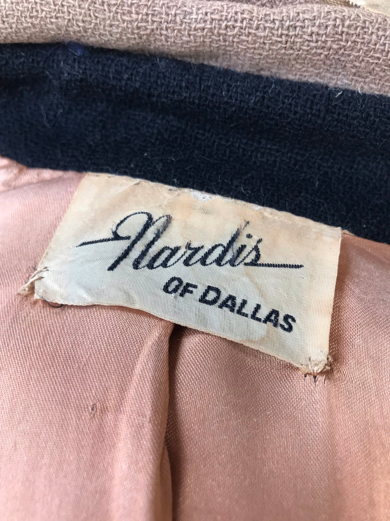 "1950s ""Nardis of Dallas"" Quicksand Contrast Suit *SET*"