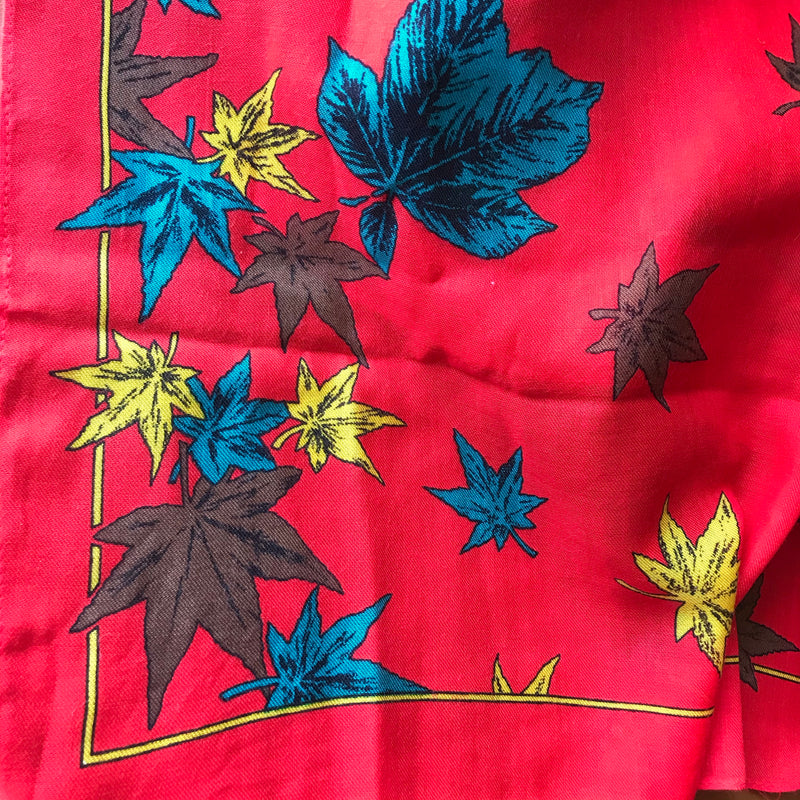 Red Cotton Maple Leaf Scarf
