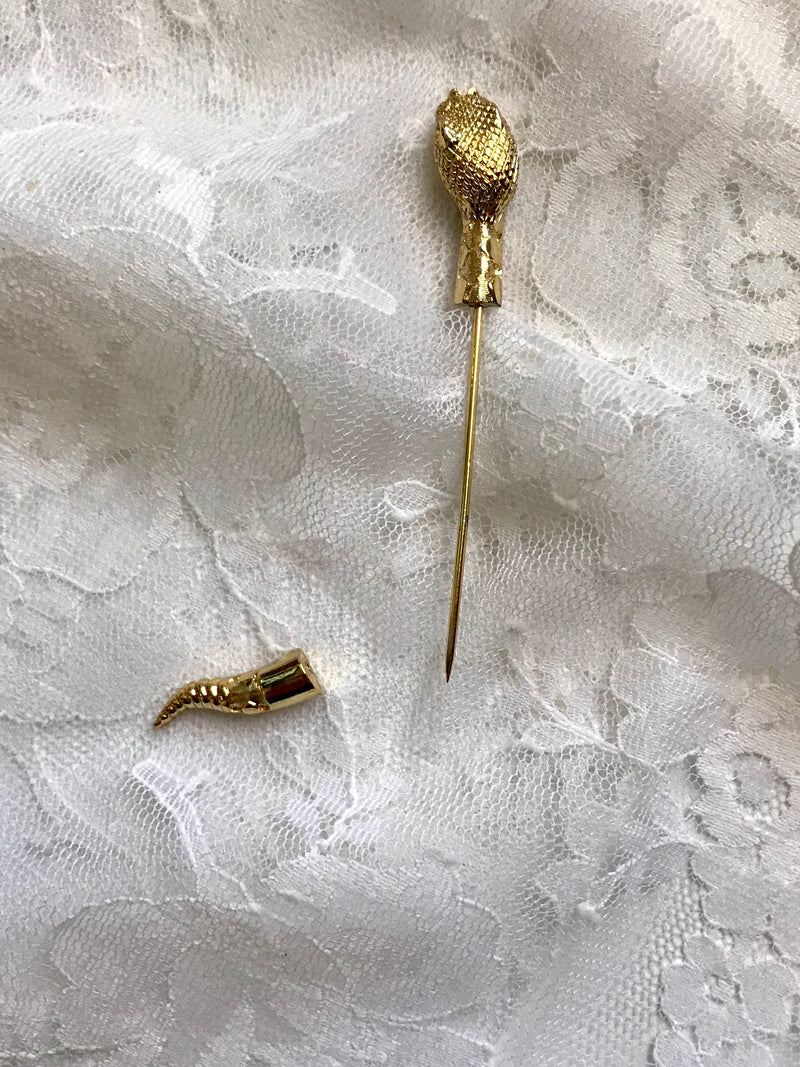 Vintage Serpent Lapel Pin