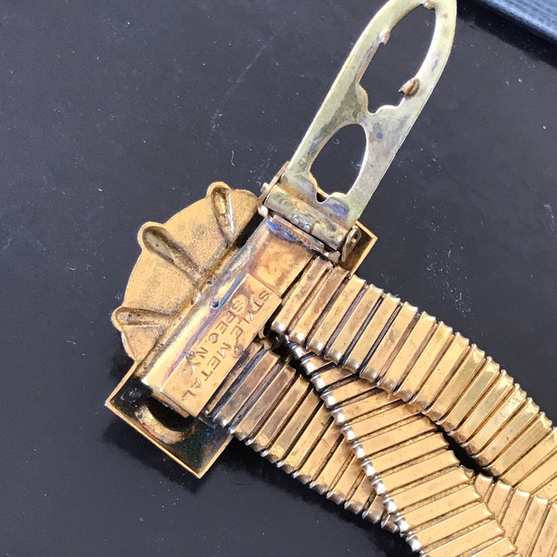 Art Deco Gold Fur Clip