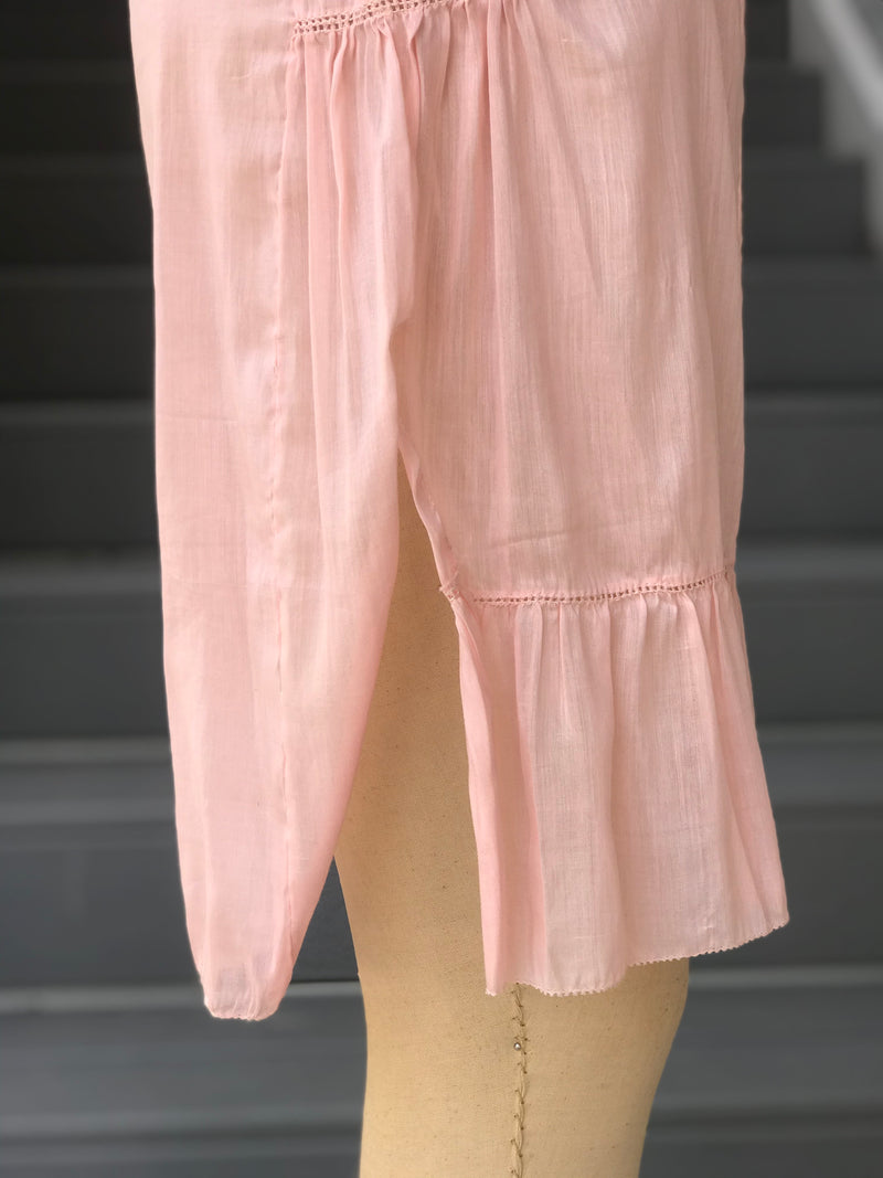 1920 Pink Cotton Step In Lingerie