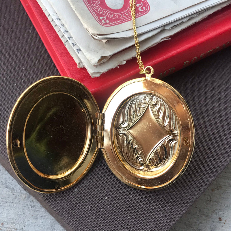 Blue and Gold Cameo Locket
