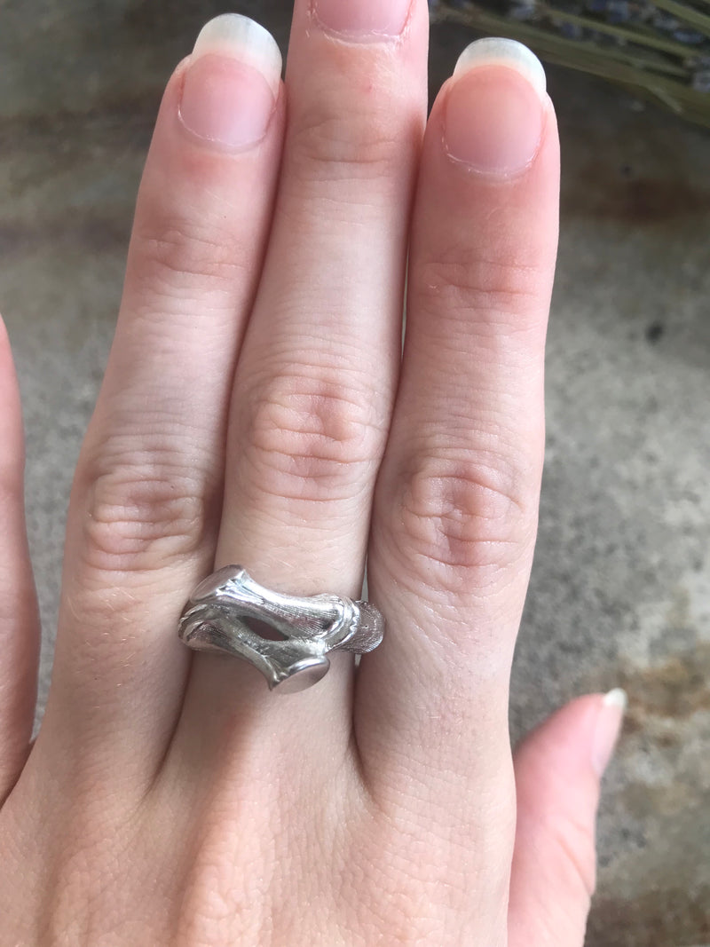 "Vintage ""Sarah Coventry"" Bamboo Bypass Ring"