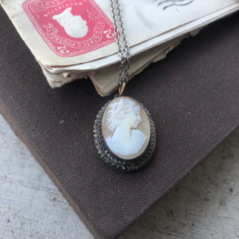 Sterling Silver Cameo Necklace