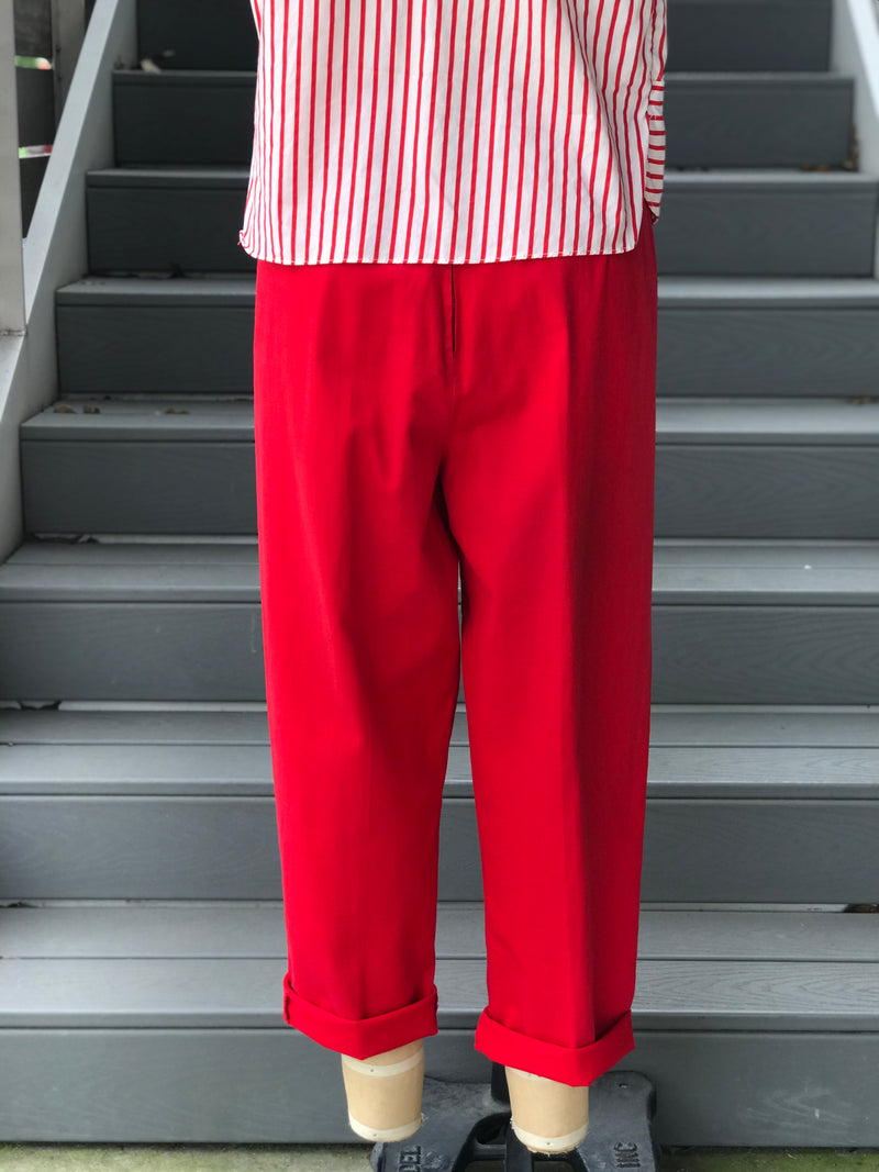 1950s Red Pedal Pusher Pants