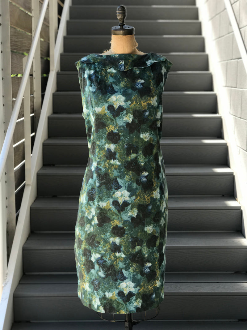 *Volup* XXL 1960s Watercolor Leaf Pocket Dress