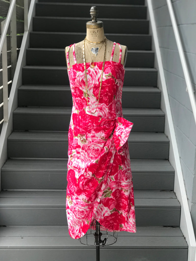 "*RESERVED* 1950s Homesewn ""Vogue"" Pattern Floral Dress"