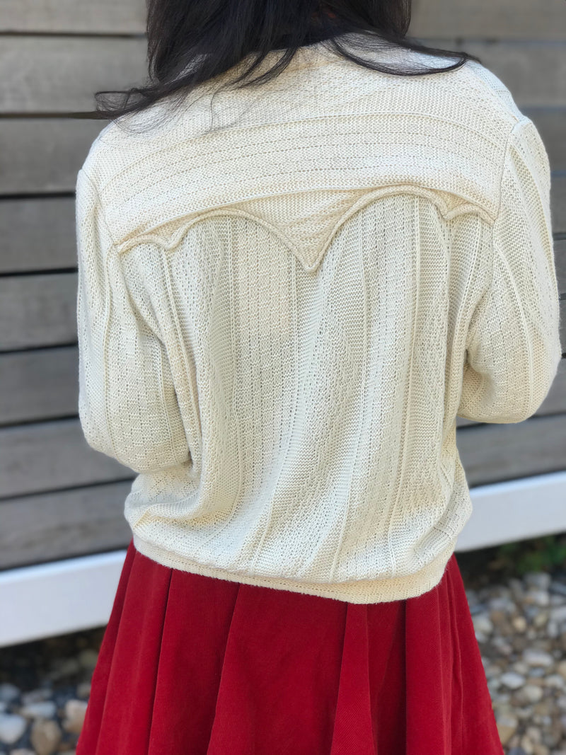 1950s Cotton Knit Grandpa Sweater