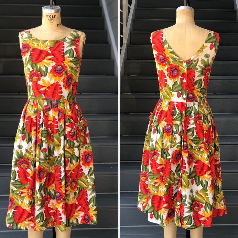 1990s Espirit Fruit Dress