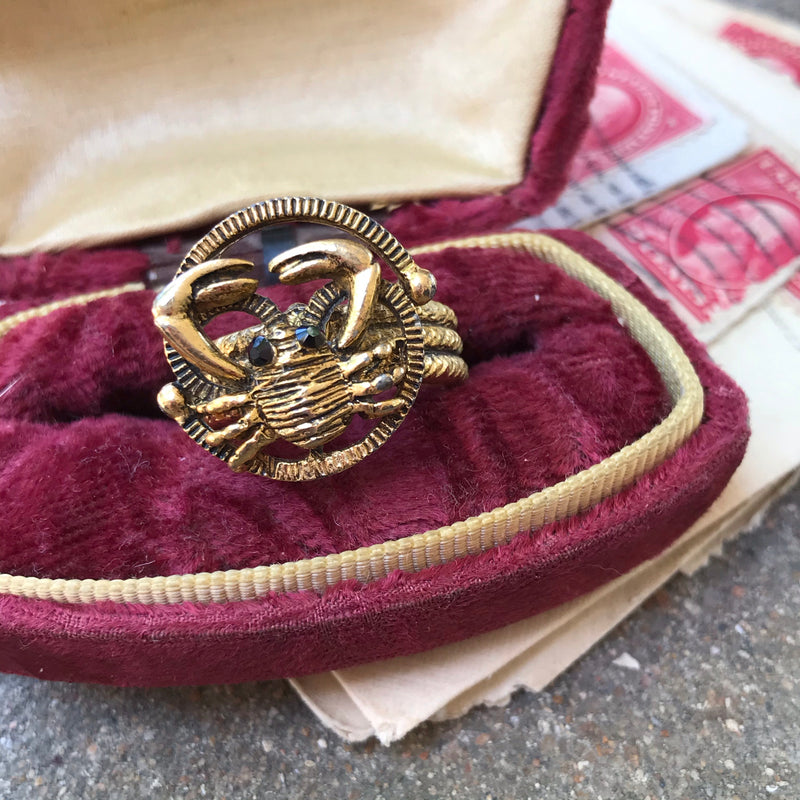 1970s Zodiac Cancer/Crab Ring