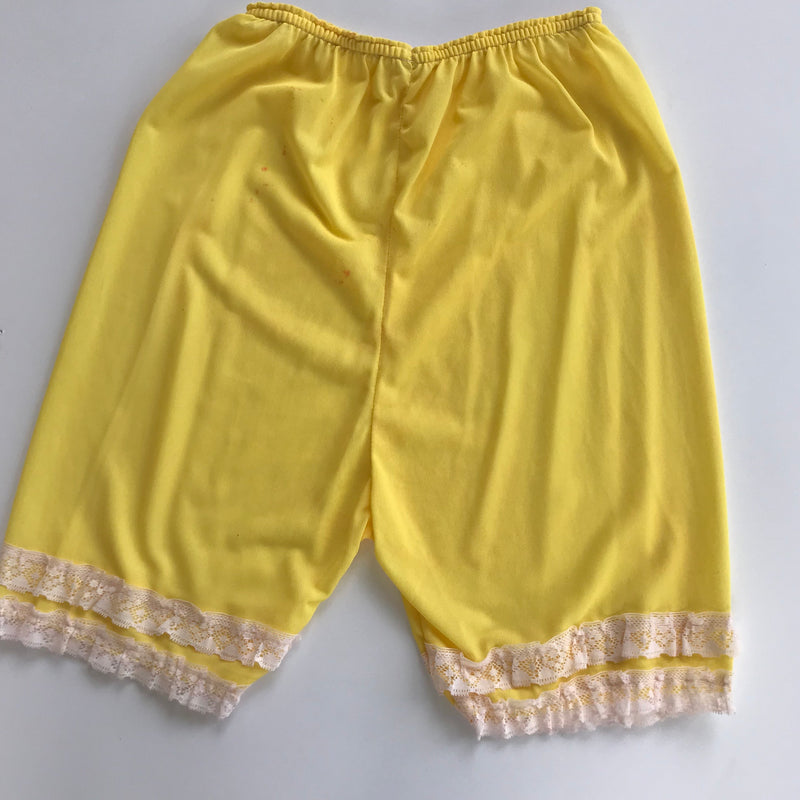 Yellow Bloomers with Lace Ruffles