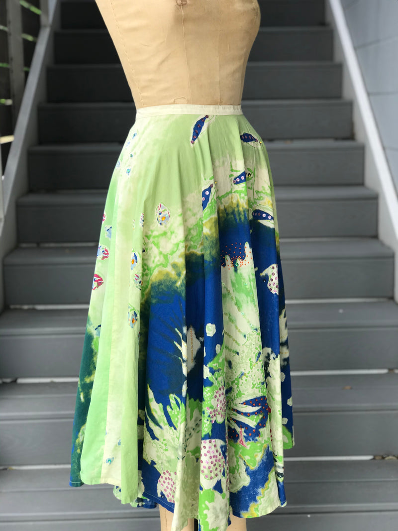 "1950s Style ""Under the Sea"" circle skirt"