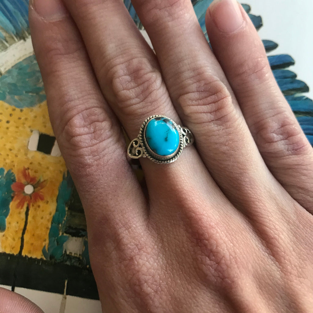 *RESERVED* Genuine Turquoise + Sterling Silver Ring