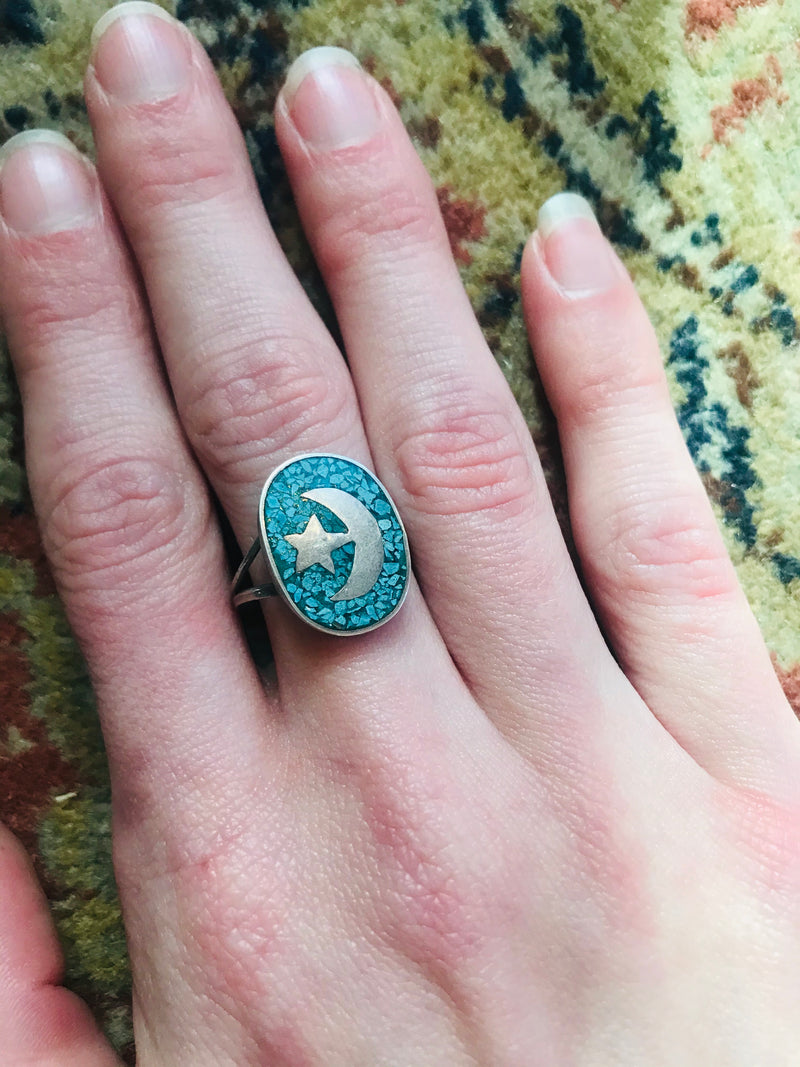 *RESERVED* Islamic Emblem Turquoise Ring