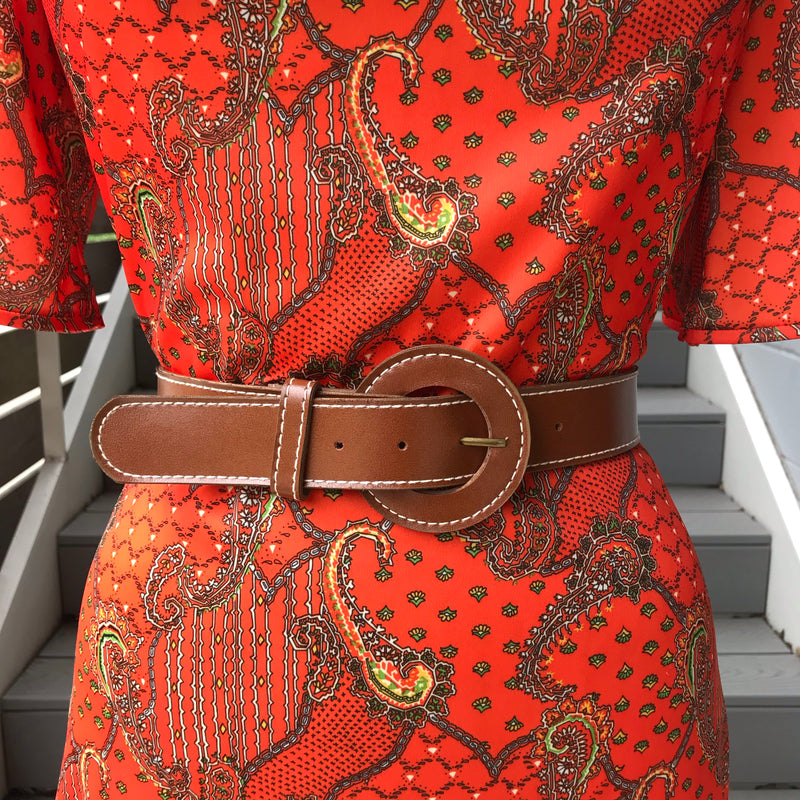 1970s Brown Vegan Belt