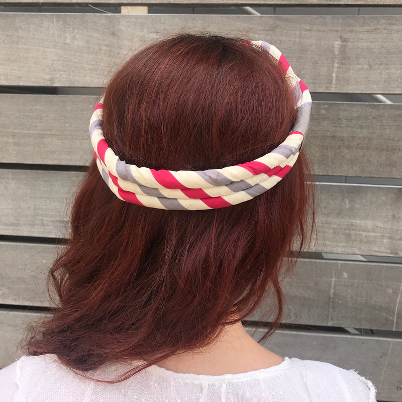 1940s Candy Striped Headband