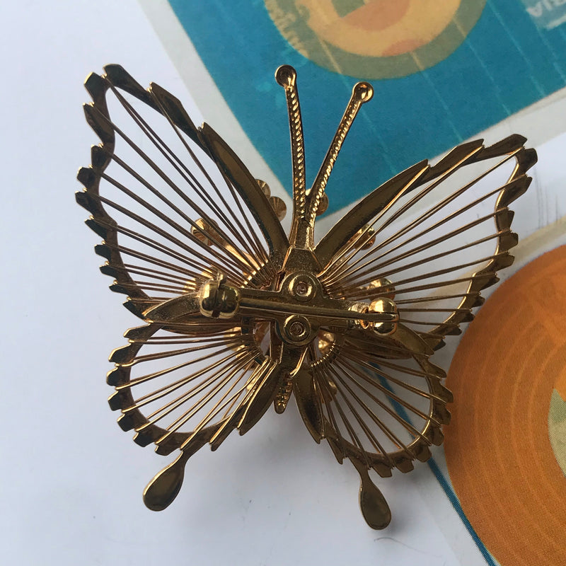 Gold Monet Butterfly Brooch