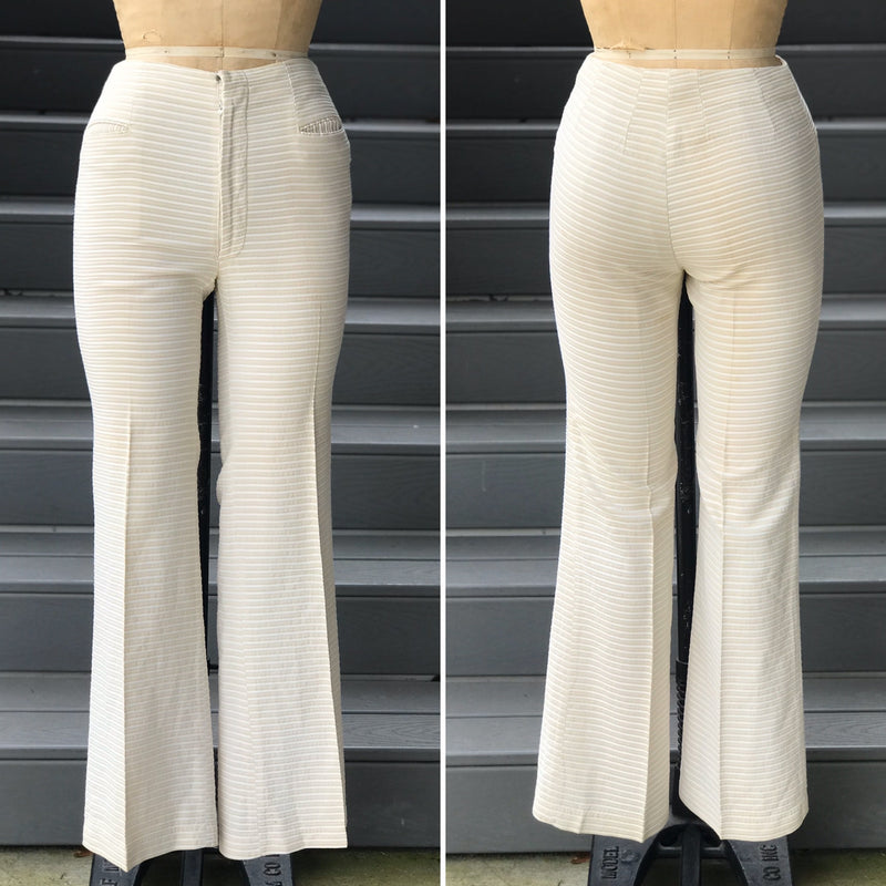 1980s *DESIGNER* Leather Cigarette Cut Pants