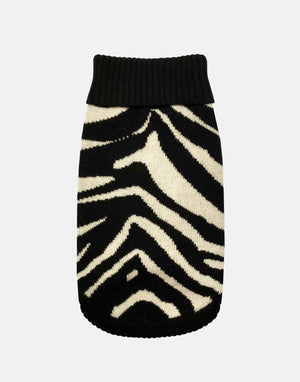 Black Tiger Print Dog Jumper