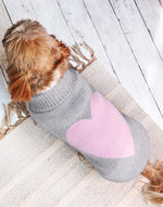 Pink Love Heart Dog Jumper