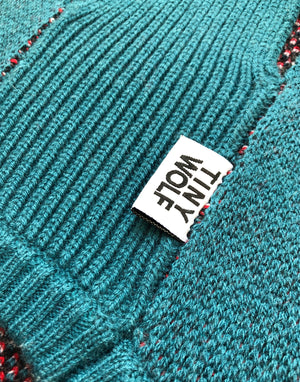 Teal Shark Attack Dog Jumper