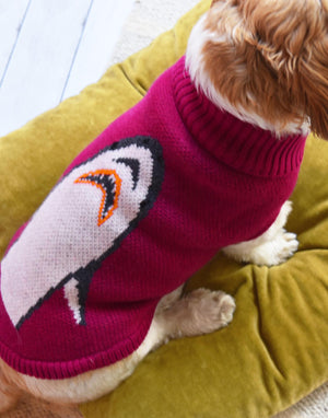 Plum Shark Attack Dog Jumper