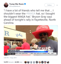 Load image into Gallery viewer, HUGE Foam MAGA Hat Make America Great Again Trump GIANT MAGA Hat - Trump Mug