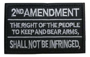 2nd Amendment Constitution Text Gun Rights Tactical Morale Hook & Loop Patch - Trump Mug