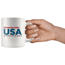 Load image into Gallery viewer, Never Socialist USA Trump MAGA Mug - Trump Mug