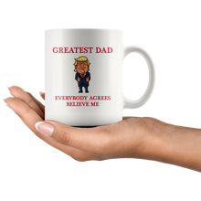 Load image into Gallery viewer, Greatest Dad Father Trump Thumbs Up Mug - Trump Mug